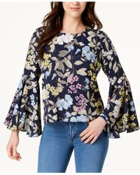 Vince Camuto - Bell-sleeve Top, Created For Macy's - Lyst