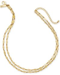 "INC International Concepts - I.n.c. Gold-tone Leaf Double-row Necklace, 16""/17"" + 3"" Extender, Created For Macy's - Lyst"