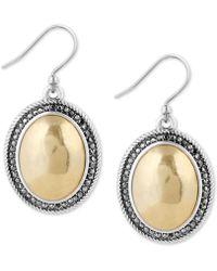 Lucky Brand - Two-tone Crystal Drop Earrings - Lyst