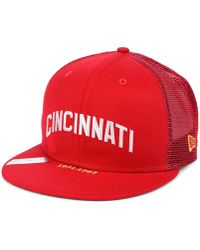 low priced b2ce9 76491 KTZ Cincinnati Reds Classic Canvas 9fifty Snapback Cap in Red for Men - Lyst