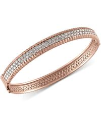 Effy Collection | Diamond Bangle Bracelet (2-1/6 Ct. T.w.) In 14k White, Yellow And Rose Gold | Lyst