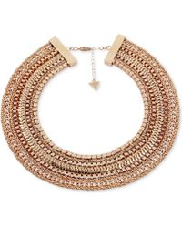 """Guess - Gold-tone Multi-chain Collar Necklace, 16"""" + 2"""" Extender - Lyst"""
