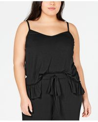 INC International Concepts - Inc Ultra Soft Plus Knit Ruffle Flounce Pajama Top, Created For Macy's - Lyst