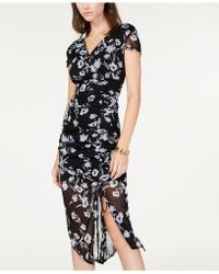 INC International Concepts - I.n.c. Ruched Flutter-sleeve Dress, Created For Macy's - Lyst