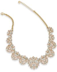 Charter Club - Gold-tone Crystal & Pink Stone Statement Necklace - Lyst