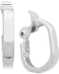 Anne Klein - E-z Comfort Clip-on Hoop Earrings - Lyst