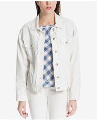 Max Studio - Frayed Denim Jacket, Created For Macy's - Lyst