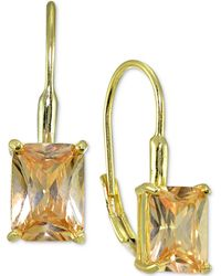 Giani Bernini | Square Crystal Drop Earrings In 18k Gold-plated Sterling Silver | Lyst