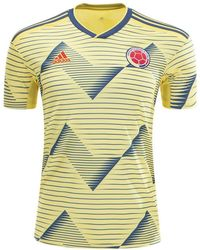 47c3179e2ea adidas Originals Retro Colombia Football Jersey In Yellow Cd6956 in Yellow  for Men - Lyst