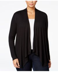 INC International Concepts - Plus Size Draped Open-front Cardigan - Lyst