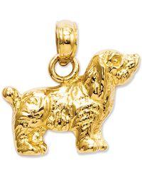 Macy's - 14k Gold Charm, Cocker Spaniel Dog Charm - Lyst