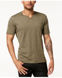 INC International Concepts - Split-neck T-shirt, Created For Macy's - Lyst