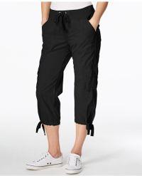Calvin Klein - Performance Poplin Capri Cargo Pants - Lyst