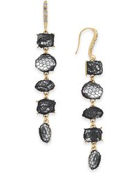 INC International Concepts - I.n.c. Gold-tone Stone & Lace Linear Drop Earrings, Created For Macy's - Lyst