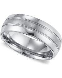 Triton | Men's Tungsten Carbide Ring, Comfort Fit Wedding Band (8mm) | Lyst