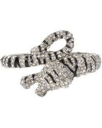 Betsey Johnson - Tiger Hinged Bangle Bracelet - Lyst