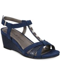 Karen Scott - Clarita Wedge Sandals, Created For Macy's - Lyst