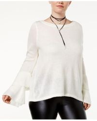 Almost Famous | Trendy Plus Size Tiered Bell-sleeve Jumper | Lyst