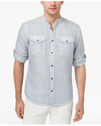INC International Concepts - Garment Dye Linen Shirt, Created For Macy's - Lyst