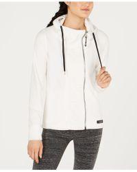 f9d6e61376507 Calvin Klein - Performance Asymmetrical-zip Logo Hooded Fleece Jacket - Lyst