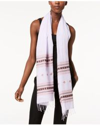 Eileen Fisher - Printed Organic-cotton Scarf - Lyst