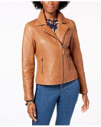 Charter Club - Petite Leather Moto Jacket, Created For Macy's - Lyst