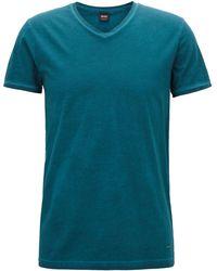 BOSS - Regular/classic-fit Cotton T-shirt - Lyst