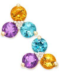Macy's - Multi-gemstone (1-5/8 Ct. T.w.) & Diamond Accent Stud Earrings In 14k Gold - Lyst