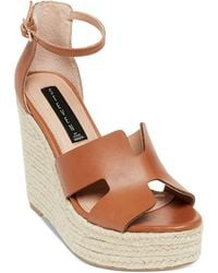 Steven by Steve Madden - Sirena (cognac Leather) Women's Wedge Shoes - Lyst