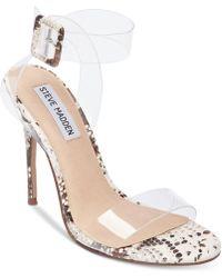Steve Madden - Seeme Lucite Dress Sandals - Lyst