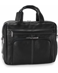 Kenneth Cole Reaction - Reaction Laptop Portfolio, Colombian Leather Double Gusset Expandable Top Zip Business Case - Lyst