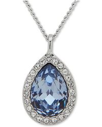 "Givenchy - Pavé & Stone Pear Pendant Necklace, 16"" + 3"" Extender, Created For Macy's - Lyst"