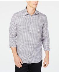 e3569299c11 Lyst - Calvin Klein Men s Abstract Dobby Shirt in Black for Men