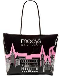 Macy's - City Glitter Zip Totes - Lyst