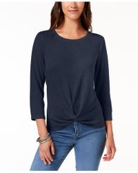 Style & Co. - Knot-hem Top, Created For Macy's - Lyst