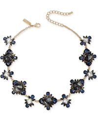 """INC International Concepts - I.n.c Gold-tone Stone & Lace Collar Necklace, 16"""" + 3"""" Extender, Created For Macy''s - Lyst"""