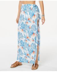 448c29b83b2e Forever 21 Kulani Kinis Floral Swim Cover-up Maxi Skirt in Red - Lyst