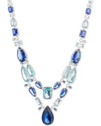 """Carolee - Silver-tone Stone 16"""" Statement Necklace - Lyst"""