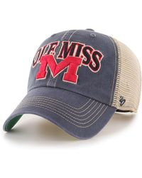 size 40 ca38c 2f795 47 Brand Ole Miss Rebels Regiment Clean Up Strapback Cap in Green for Men -  Lyst