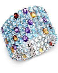 Macy's - Multi-stone Five Row Bracelet In Sterling Silver (204-2/5 Ct. T.w.) - Lyst