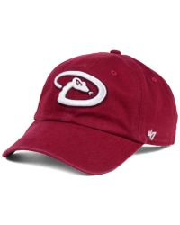 47 Brand - Arizona Diamondbacks Cardinal And White Clean Up Cap - Lyst