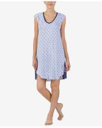 Ellen Tracy - Printed Contrast-hem Nightgown - Lyst