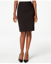 Tahari - Solid Pencil Skirt - Lyst