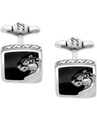 Effy Collection - Men's Onyx (15 X 14mm) Panther Cuff Links In Sterling Silver And Oxidized Silver - Lyst