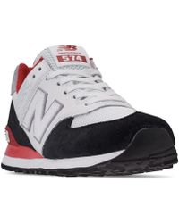 e342e48447 New Balance Men's 501 Casual Sneakers From Finish Line in Black for ...