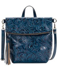 Patricia Nash - Burnished Tooled Luzille Convertible Small Backpack - Lyst