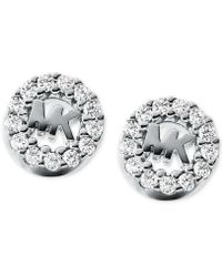 Michael Kors - Sterling Silver Logo Studs - Lyst
