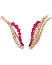 Le Vian - ® Ruby (3/4 Ct. T.w.) & Diamond (1/2 Ct. T.w.) Ear Climbers In 14k Rose Gold - Lyst