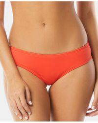 Vince Camuto - Riviera Shirred Cheeky Bikini Bottoms - Lyst
