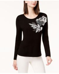 INC International Concepts - Sequined Crew-neck Sweater, Created For Macy's - Lyst